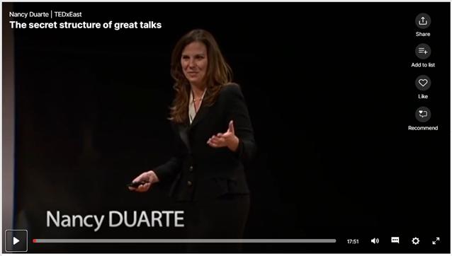 Nancy Duarte the secret of great presentations