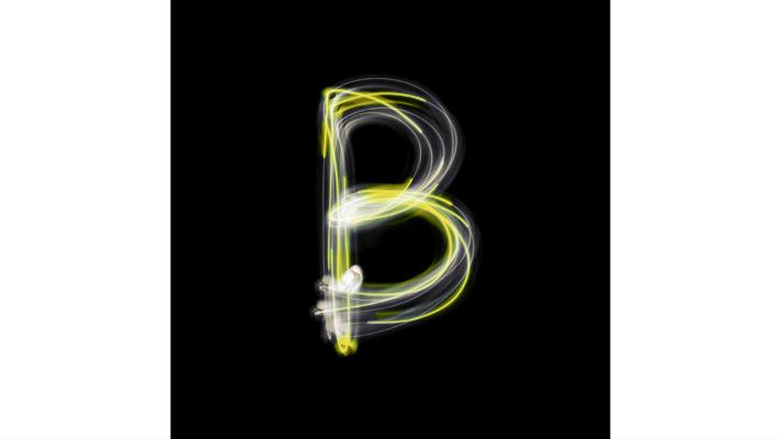 Alphabet Letter B neon sign