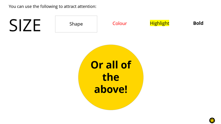 how to draw attention